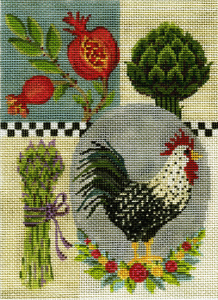 Rooster Collage taught by Kelly Clark