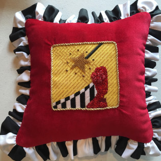 Wizard of Oz Pillow with Ruffled Fabric