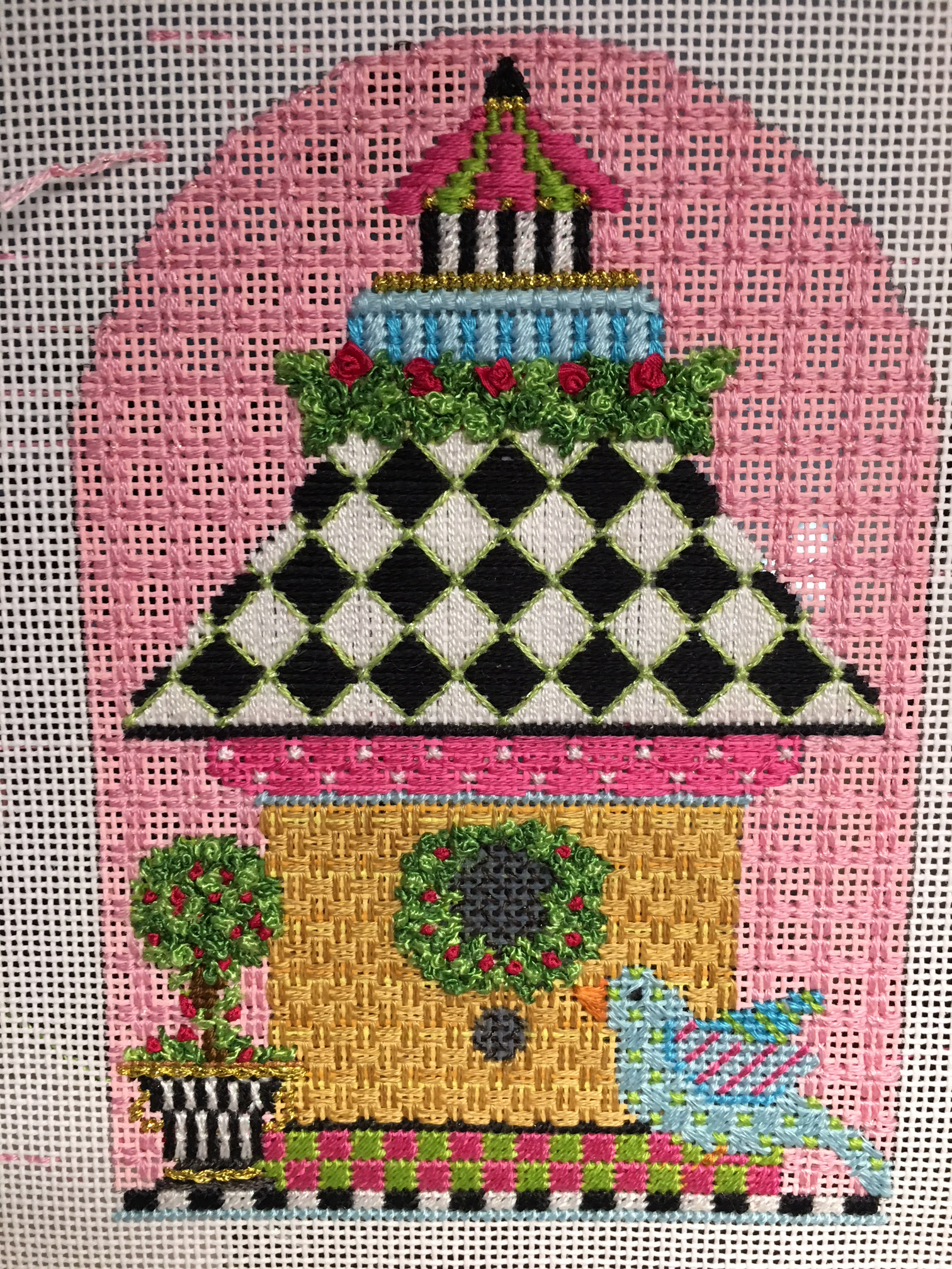 Christmas Birdhouses.Beautiful Birdhouses Club The Enriched Stitch
